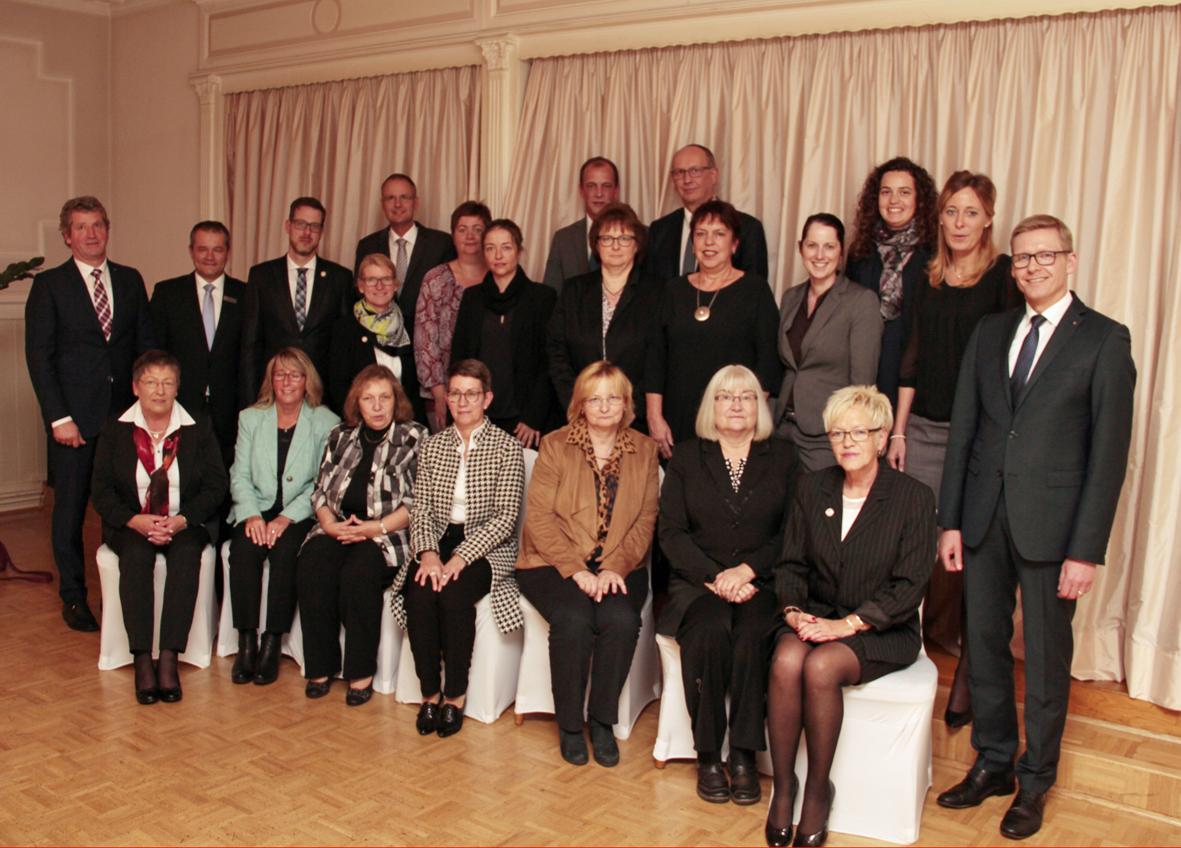 Unsere Jubilare 2017 mit dem Vorstand